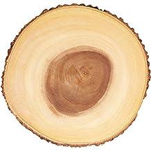 Kitchencraft Artesà Rústico Tronco de árbol de Madera Tabla de quesos/Bandeja con Borde de