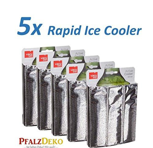 Unser Herbstknaller: 5x Weinkühler Rapid Ice Silber von Vacu Vin