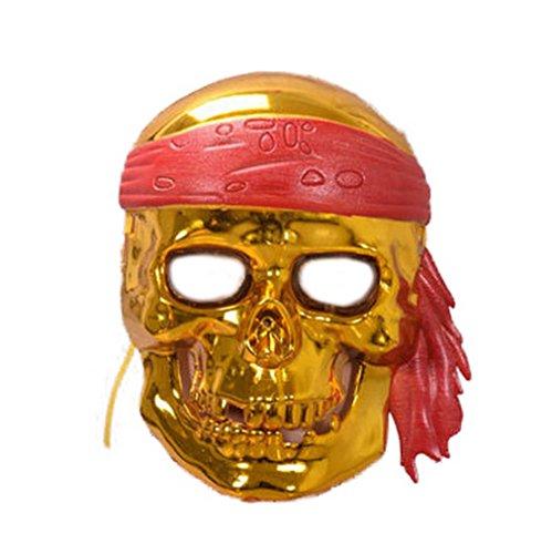 YAZILIND Mode Kopf Maske Horror Scary Skelett Piraten Halloween Party Bar Kostüm Masquerade Maske (Kostüme Scary Skelett)