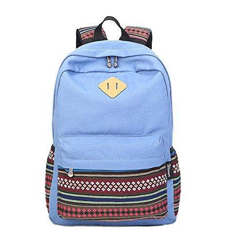 artone-toile-tribal-stripes-voyager-daypack-campus-sac-a-dos-avec-interieur-les-poches-bleu-clair