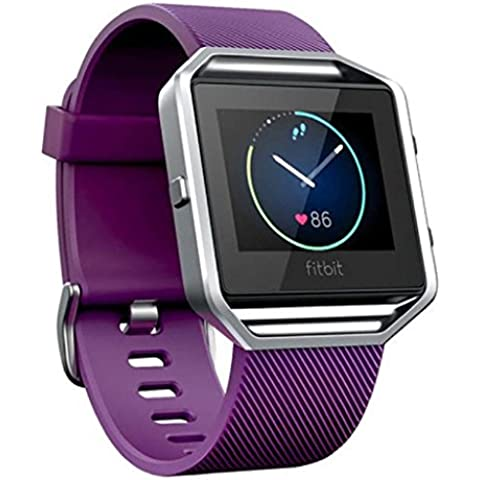 Fitbit Blaze Reloj inteligente Banda Sannysis Correa de Silicona Reemplazo de Banda (Púrpura)