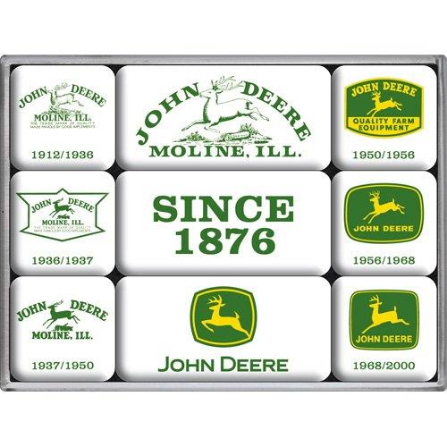 John Deere Magnet (Nostalgic-Art 83025 John Deere - Since 1876, Magnet-Set (9teilig))