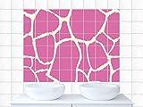 Fliesenbilder Fliesenaufkleber für Badezimmer Linien Muster Motiv Küchenfliese (Fliesengröße25x20cm (BxH)//Bildgröße 105x70cm (BxH))