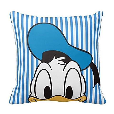 Peek-a-Boo Donald Duck Square Pillow Sham Cushion Cover 16X16