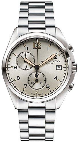 Hamilton - Orologio da polso, cronografo al quarzo, pelle