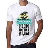 Herren Tee Männer Vintage T Shirt Summer Dance Copacabana Weiß