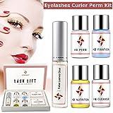 Kit de Permanente de Pestañas Luckyfine Eyelash Perm Liquid Eyelash Wave - Herramientas de Maquillaje Curling de Pestañas, Lash Lift Long Lasting Natural (Juego de 7 piezas)