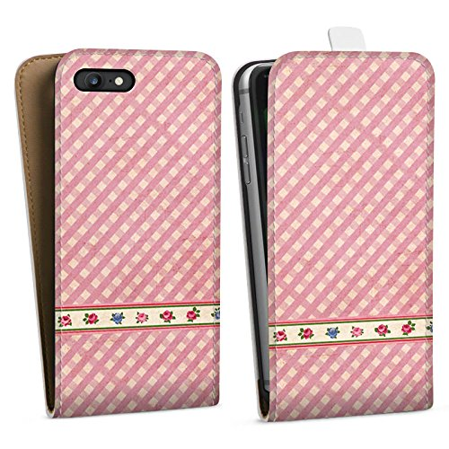 Apple iPhone X Silikon Hülle Case Schutzhülle Karo Mädchen Oktoberfest Downflip Tasche weiß