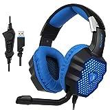 Best Sades cancelación de ruido auriculares - Yanni Sades sonido envolvente USB Over Ear Stereo Review