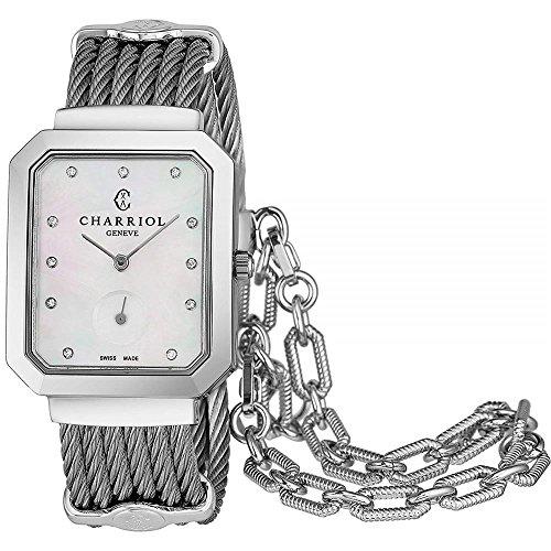 Charriol Women's Steel Bracelet & Case Swiss Quartz Analog Watch STRES.560.001