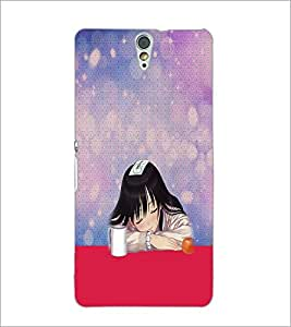 PrintDhaba Sleeping Girl D-2951 Back Case Cover for SONY XPERIA C5 ULTRA (Multi-Coloured)