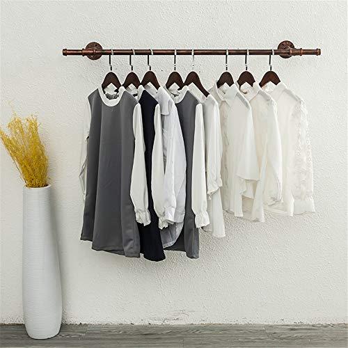 Schmiedeeisen Wasserrohr Leiste, Eisen Rohr Wand hängen Kleidung Display Rack Loft Kleidung Rack geeignet für Schlafzimmer Garderobe Kleidung Geschäft Showroom Sammlung Raum (Kleidung Racks)