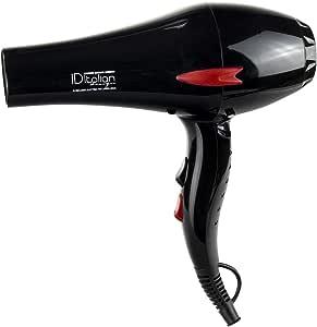 ID Italian Design | Seche Cheveux Professionnel 3 Modes de Chaleur et 2 Vitesses, de Couleur Noire 2200W