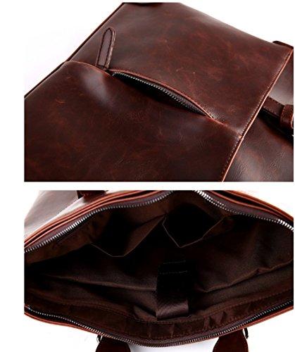 BULAGE Taschen Männer Tragbar Schulter Freizeit Mode Wirtschaft Dreidimensionaler Dokument Messenger Zur Arbeit Gehen Europa Einfach Brown