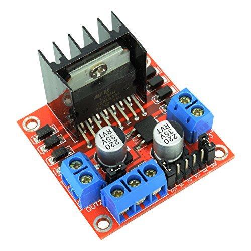Optimus Electric 5x L298N Motor Drive Controller Modul Board Dual h-Bridge Driver für Arduino, Roboter, Smart Cars H-bridge Driver