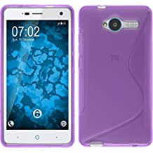 Funda de silicona para ZTE Blade L3 - S-Style púrpura - Cover PhoneNatic Cubierta + protector de pantalla
