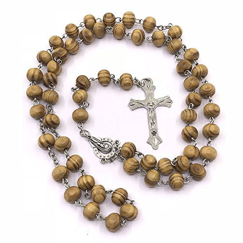 simplewoo First Communion Gifts Christening Baptism Necklaces Rosary Party Favors/Wedding Favors/Quinceanera Favors Pack of 10pcs