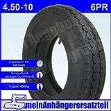 Reifen Anhängerreifen 4.50-10 6PR 76M inkl. Schlauch für Pkw Anhänger