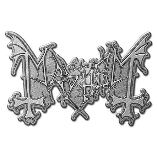 Mayhem METALL PIN ANSTECKER BADGE BUTTON #2 CLASSIC LOGO -