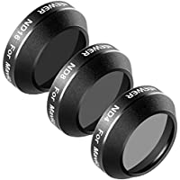 Neewer 3 Pieces Filter Kit for DJI Mavic Pro Drone Quadcopter Includes: ND4, ND8 and ND16 Filter, Made of Multi Coated Waterproof Aluminum Alloy Frame Optical Glass (MC-16)