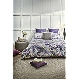 D'Decor Cotton 180Tc Double Bedsheet With 2 Pillow Covers - Floral, Purple