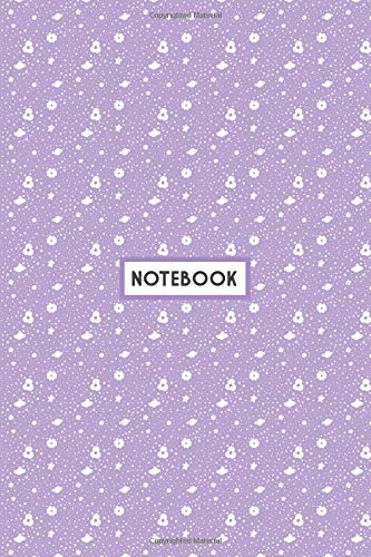 Notebook: Purple Doodles Simple Pattern, Wide Ruled 110 pages (6.14