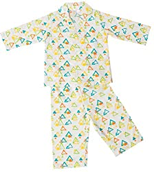 Little Bum 100% Cotton Sleepwear (pajama set) for baby boys and baby girls - Colorful Triangles