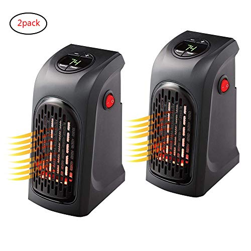 ACLBB 2Pack Mini Enchufe LED Calentador Eléctrico