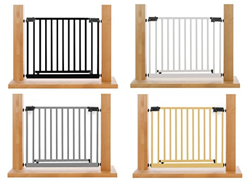 IMPAG® XXL Türschutzgitter | Treppenschutzgitter | 95-243 cm | 4 Farben | Extrabreite Komfort-Tür | Durchgangs-Breite von 75 cm | selbstschließend | Zum Klemmen, ohne Bohren | sicherheitsgeprüft