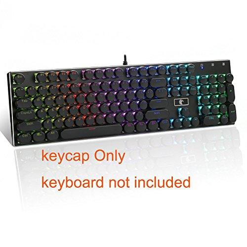 E-Element 104 Double Shot Injection Hinterleuchtete Tastenkappen Retro Schreibmaschine Style für alle mechanische tastatur keycap Schwarz Farbe