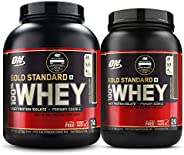 Optimum Nutrition (ON) Gold Standard 100% Whey Protein Powder - 2 lbs, 907 g (Double Rich Chocolate) & (ON