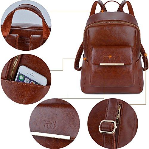 565ae6e925 COOFIT Zaino Donna Elegante Ecopelle Borsa Zainetto Vintage Casual ...
