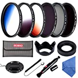 58MM Filter Set Beschoi 6Pcs Filter Kit