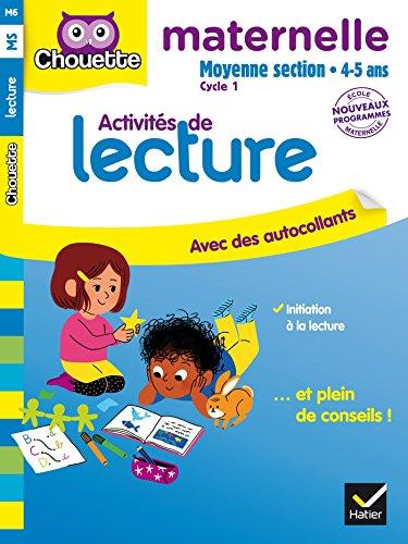 Activités de lecture, maternelle moyenne section cycle 1