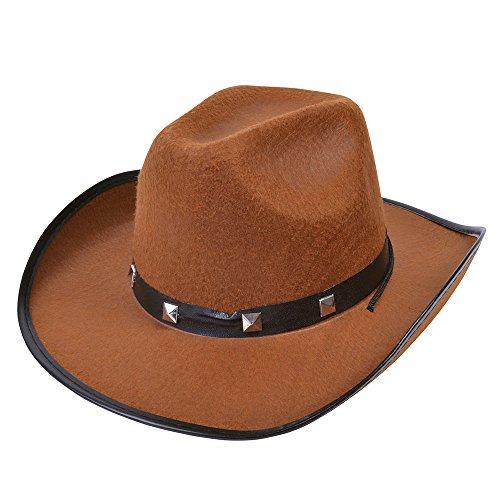 (Bristol Novelty bh367b Filz Cowboy Nieten Hat, braun, one size)