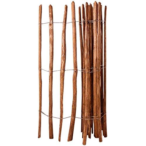 vidaXL Haselnuss Holz Staketenzaun 150x250 cm Lattenzaun Gartenzaun Roll Zaun