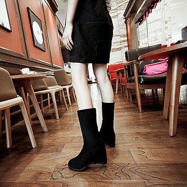 Wsx & Plm Femmes-bottines-décontracté-autre-wedge-similicuir-noir Bleu Rouge Rouge