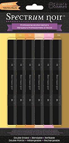 Spectrum Noir - Mischbare Alkohol-Marker Stifte-Set, Blasse Farbtöne, 6 Stück