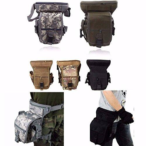 CAMTOA Tactical Hip Bag Hüfttasche Beintasche,Sport Taktische Airsoft Militär Tropfen Bein Schenkel Bag Dienstprogramm Gürtel Tasche Beinbeute Schwarz (Bag Hip 1)