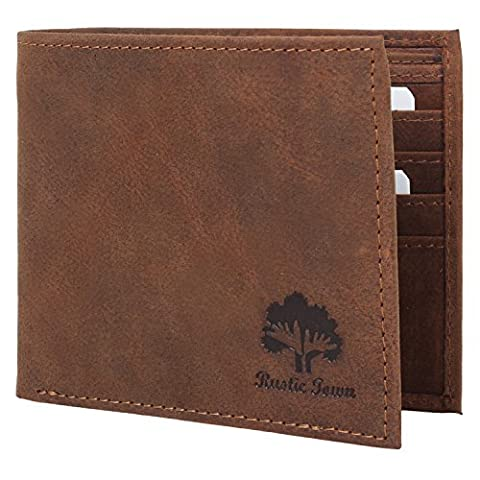 Rustic Town Handmade Traditional Genuine Leather Mens Wallet Premium Leather Bifold Wallets For Men with Vintage and Antique look A Gift from Indian Artists