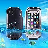 Casse del telefono mobile & Cover, HAWEEL per iPhone 7 Plus 40m impermeabile alloggiamento subacqueo foto video che prende la custodia subacquea ( Colore : Nero )