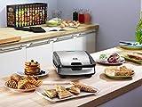 Tefal SW852D Snack Collection Waffeleisen und Sandwichmaker, 700 Watt, schwarz/edelstahl