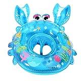 UClever Baby Kleinkinder Krabbe Schwimmreifen Schwimmsitz Schwimmhilfe Schwimmring (Blau)