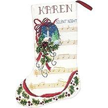 Janlynn calcetín de noche de punto de cruz Kit de punto de, algodón, multicolor, 26x 38x 0,1cm