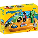 Playmobil 9119 1.2.3 Pirate Island with Shape Sorting Function