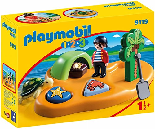 Playmobil 1.2.3-9119 Isla Pirata