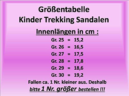 Gibra ® trekking enfant avec fermeture velcro mode blanc/vert menthe taille 25–30 Blanc - Weiß/Mintgrün