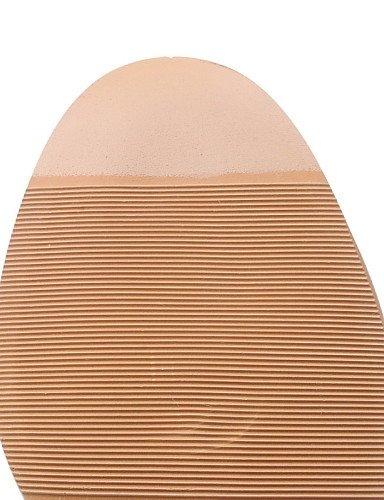 ZQ hug Scarpe Donna-Scarpe col tacco-Casual-Tacchi-Quadrato-Finta pelle-Grigio / Kaki , gray-us10.5 / eu42 / uk8.5 / cn43 , gray-us10.5 / eu42 / uk8.5 / cn43 khaki-us10.5 / eu42 / uk8.5 / cn43