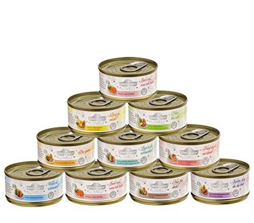 Dehner Premium Lovely Katzenfutter Adult, Ergänzungsfutter, 10 Sorten-Mix, 10 x 70 g (700 g)