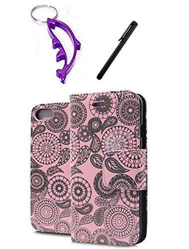 Schutzhülle für iPhone 7 Plus, Paisleymuster, Magnetverschluss,